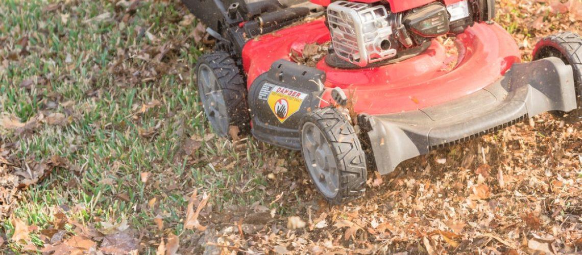 Lawn Mower Mulching Leaves