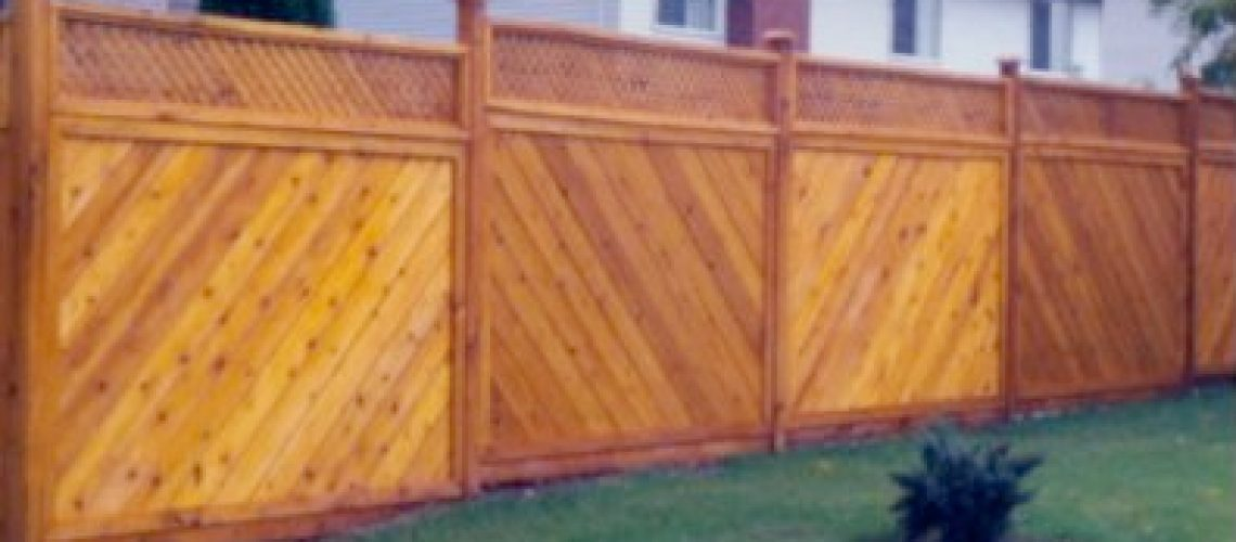 Cedar fence in Idaho Falls